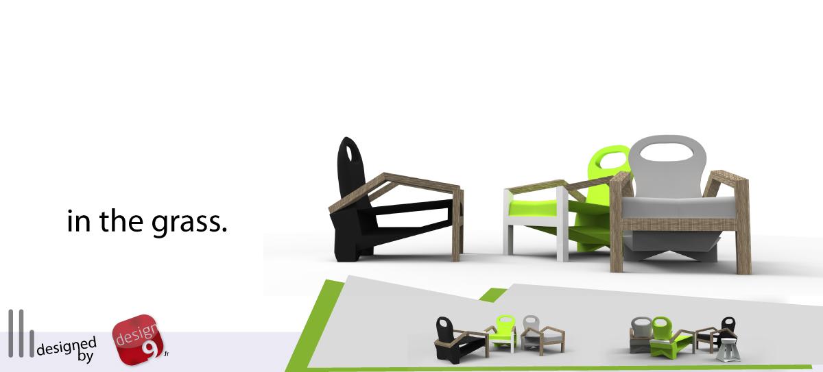 chaise de jardin en polypropylène