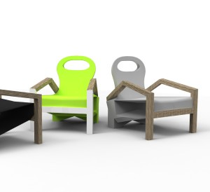 "fauteuil ""in the grass"" par design9"